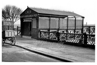 Approx' 1945..  North Woolwich pier