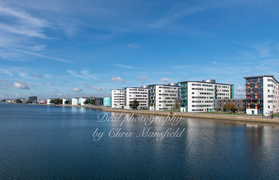 Oct 18th 2018 . UEL Campus and royal Albert dock