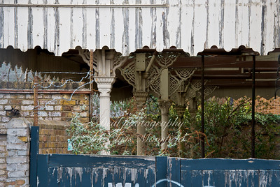 March 8th 2015 . Part of the ruins of the old North Woolwich train station and museum