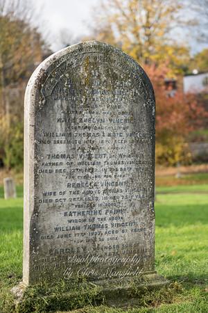 Nov' 16th 2017.  Family gravestone of WT Vincent
