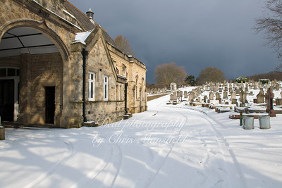 Feb' 28th 2018.  Snow clouds approaching .... Plumstead cemetery