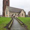 Jan' 20th 2018. St Nicholas church on a wet grey winters day