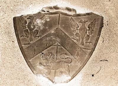 Oct' 24th 2018 .  coat of arms above John Lidgbirds memorial plaque