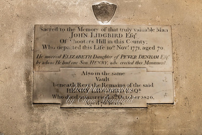 """Oct' 24th 2018 St Nicholas church interior ..  Memorial stone inscribed """" To the memory of that truly valuable man , John Lidgbird Esq. of Shooters hill in this county, Who derparted this life 10th Nov' 1771, aged 70 ..He married Elizabeth daughter of Peter Denham Esq, by whom he had one son , Henry, who erected this Monument.........Also in the same vault beneath, rest Henry Lidgbird Esq who died unmarried 5th October 1820 aged 76 years"""