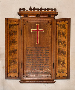Oct' 24th 2018. St Nicholas church 1914-1918 roll of honour