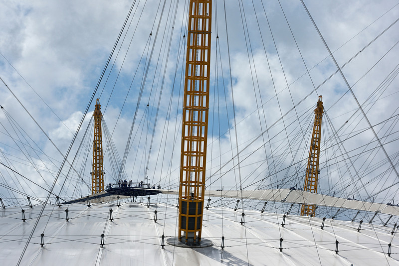 Roof of the O2 Arena in Greenwich London