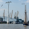The Dutch Tall Ship Gallant at the O2 Arena in Greenwich, London