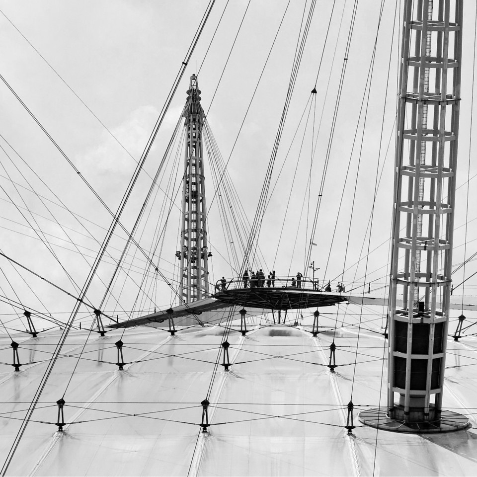 O2 Arena Roof in Greenwich London