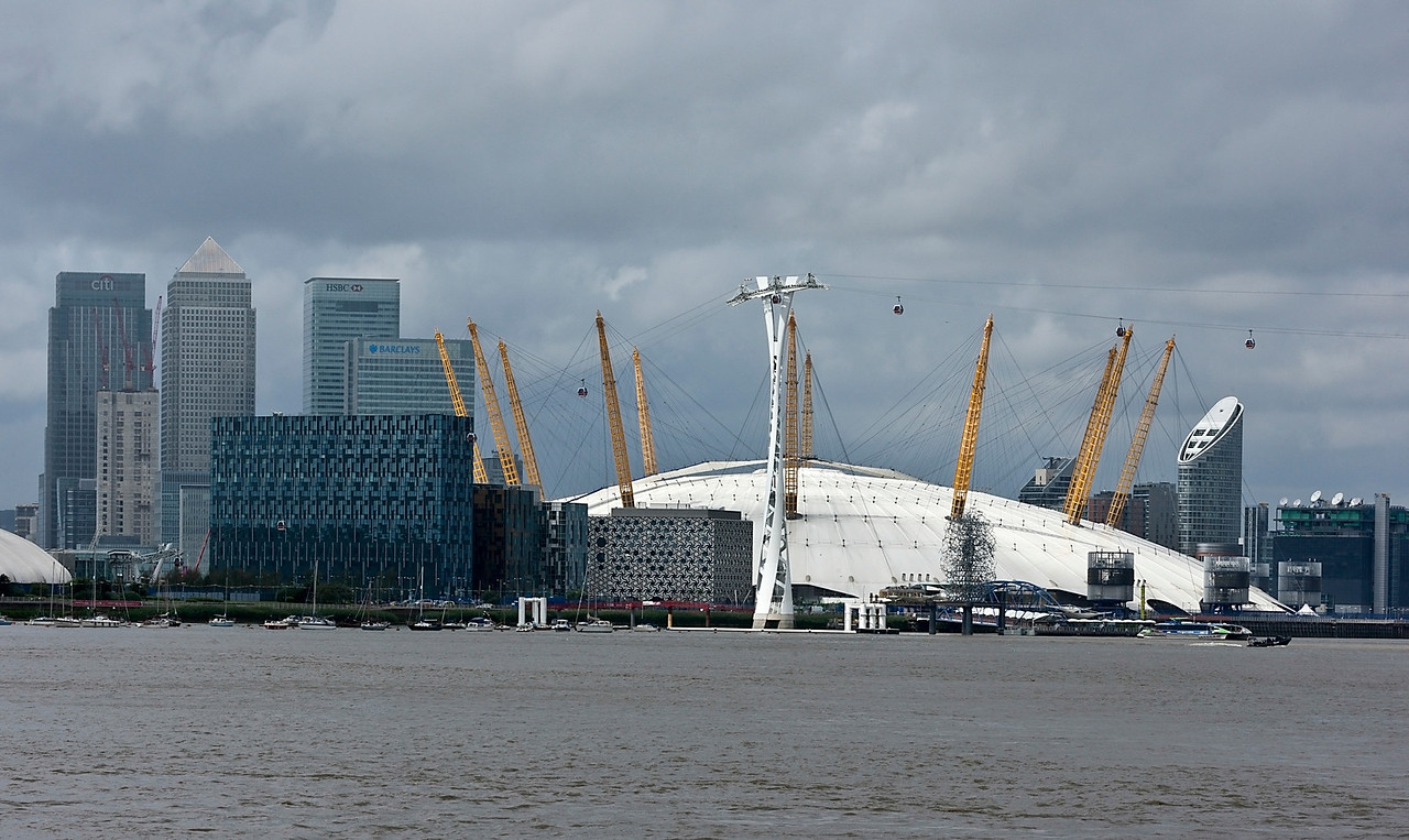 The O2 Arena and Canary Wharf