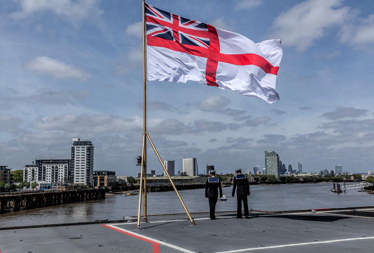 HMS Ocean in Greenwich London