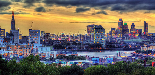 London City Skyline Sunset