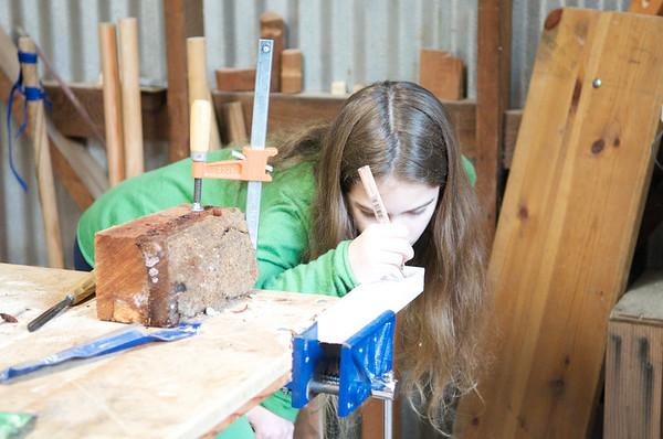 5th Grade Woodworking & Gardening Class