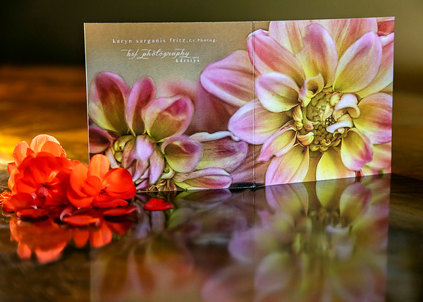 Panoramic Blank Greeting Card - Front & Back View