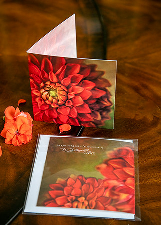 Panoramic Blank Greeting Card - Folded Front & Back View