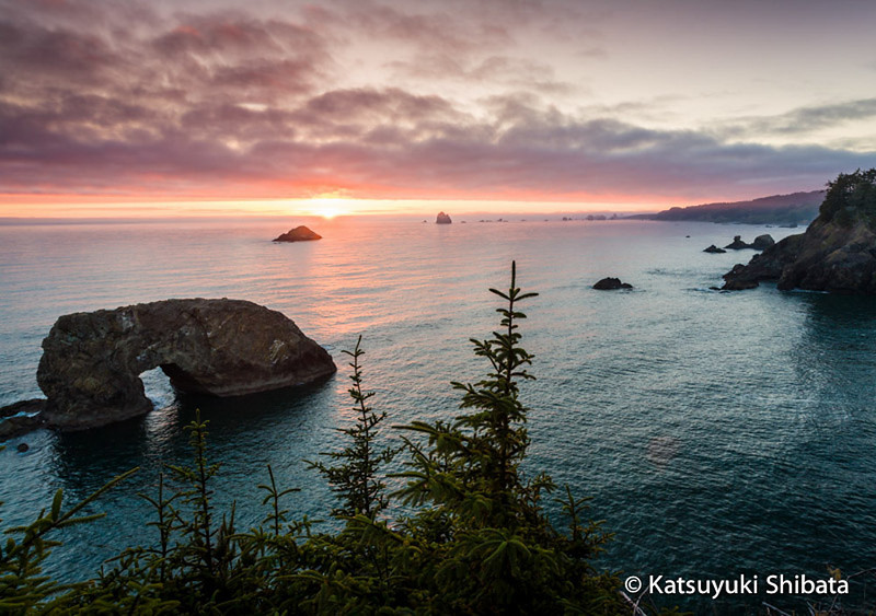 GC-101: Sunset at Arch Rock