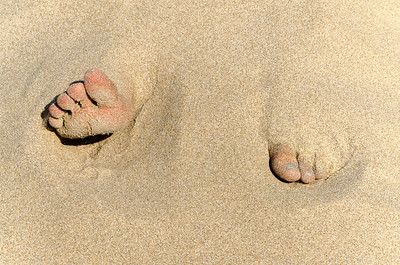 """Sandy Toes""  (#OR313)"
