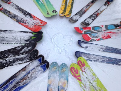 Love. It's on the slopes and in the woods with friends on skis...