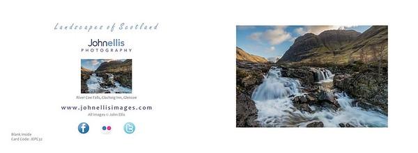 River Coe Falls, Clachaig Inn, Glencoe