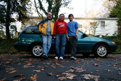 Greg Howard driving with Bob Boynton, Bill, Victor November 2009