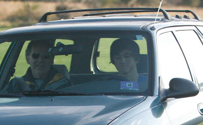 """""""So easy, I can do it with my eyes closed."""" (Greg Howard driving November 2009)"""