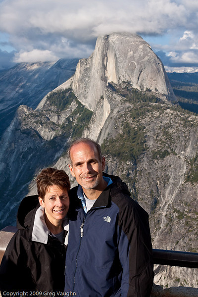 Greg and Carol at Half Dome, Yosemite National Park, Ca.  2009.