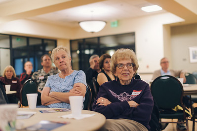 Laguna Woods, Calif. - Members of the Laguna Woods Tea Party Sentinels listens to congressman candidate Greg Raths. (Photo by Tommy Huynh)
