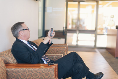 COSTA MESA, CALIF. - Congressional candidate Greg Raths of California's 45th district waits in the lobby of Vanguard University. (Official Campaign photo by Tommy Huynh)