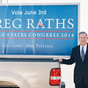COSTA MESA, CALIF. - Congressional candidate Greg Raths of California's 45th district poses for a photo with his truck April 3, 2014.  (Official Campaign photo by Tommy Huynh)