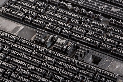 Gregorian chant hand-typesetting