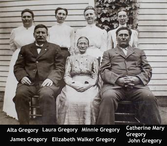Gregory Eliz James John Mary Minnie Laura Alta