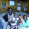 Grandma and me with mommy and Christopher