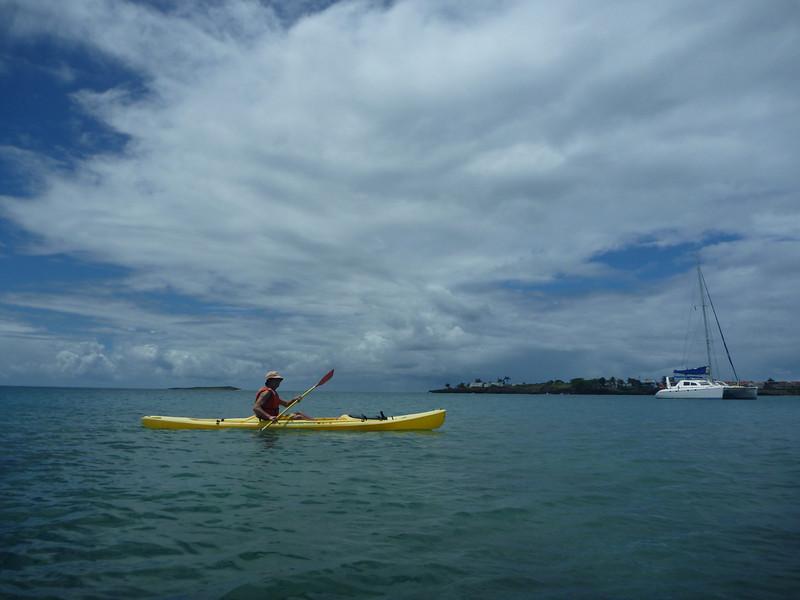 Kayaking at the University Club - Prickly Bay