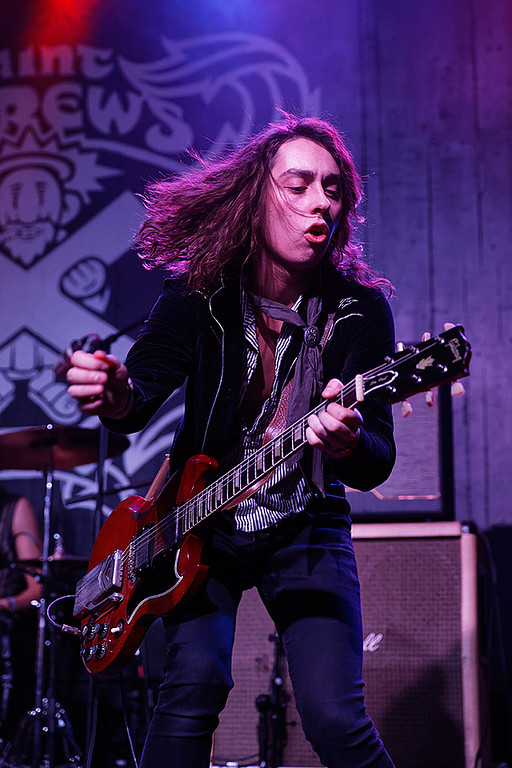 . Greta Van Fleet live at St. Andrews Hall on 12-28-2017.  Photo credit: Ken Settle