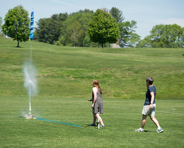 Gretchen Silverman's class launch soda bottle rockets