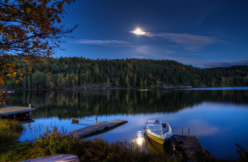 Moon over Calm Waters