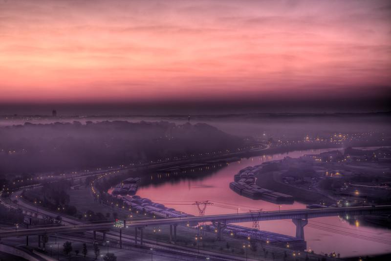 Sunrise over Mississippi