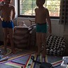 boys put on a show for mommy and daddy