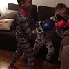 boxing with daddy  II