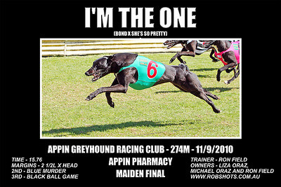 Appin Greyhounds - 11th September 2010