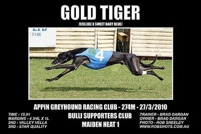 Appin Greyhounds - 27th March 2010