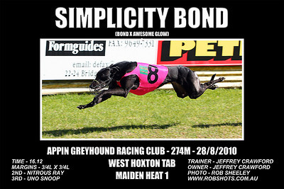 Appin Greyhounds - 28th August 2010