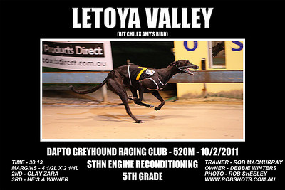 Dapto_100111_Race07_Letoya_Valley