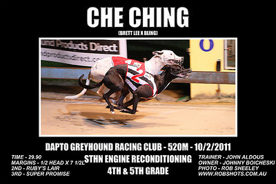 Dapto_100111_Race08_Che_Ching