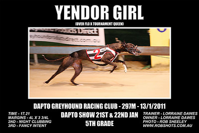 Dapto_130111_Race10_Yendor_Girl