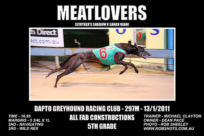 Dapto_130111_Race09_Meatlovers