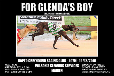 Dapto_151210_Race01_For_Glendas_Boy