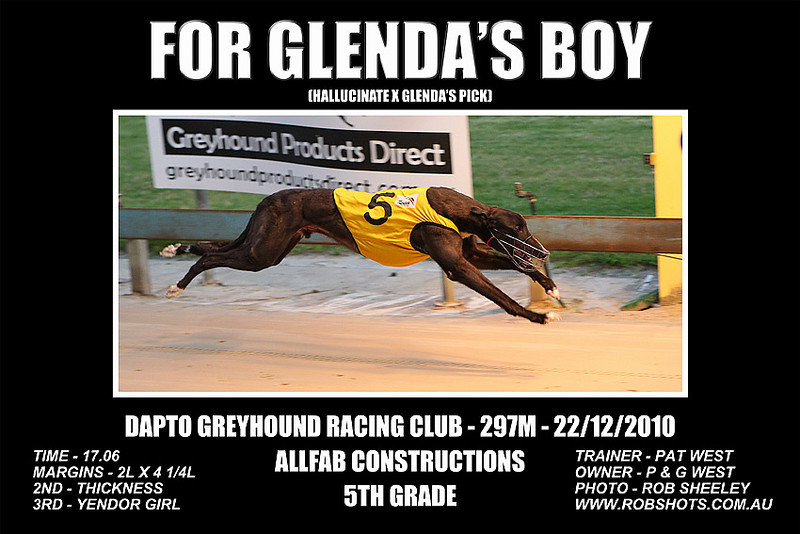 Dapto_221210_Race03_For_Glendas_Boy