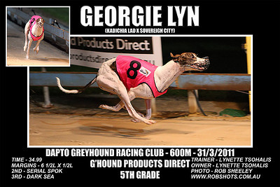 Dapto_310311_Race07_Georgie_Lyn