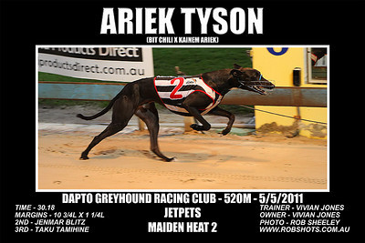 Dapto_050511_Race03_Ariek_Tyson