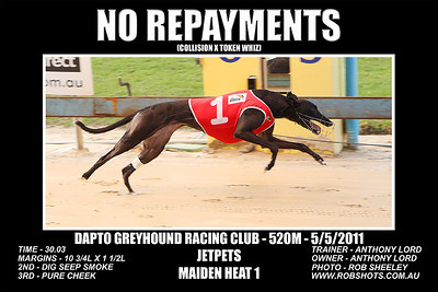 Dapto_050511_Race01_No_Repayments